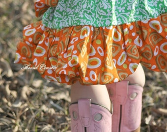 Reversible Bubble Skirt sewing Pattern, INSTANT DOWNLOAD, 6 months to 10 years, Alicia Bubble Skirt