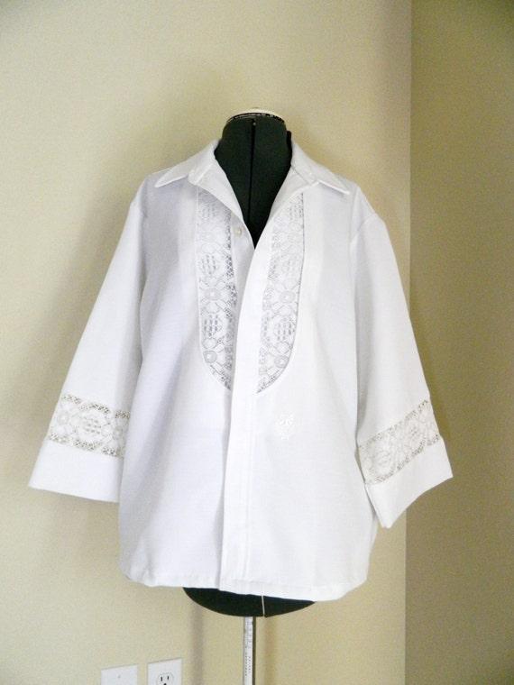 vintage hawaiian shirt lace wedding fancy by