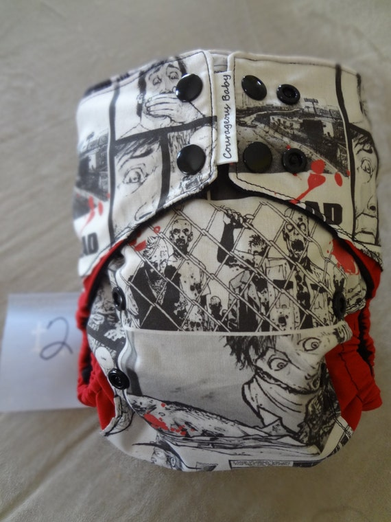The Walking Dead One Size Pocket Cloth Diaper By Courageousinc