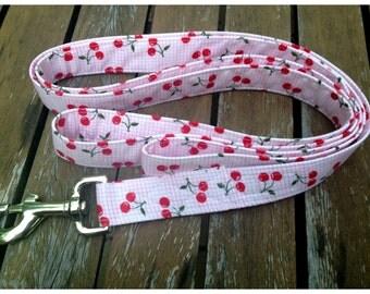 Dog Leash Cherries Jubilee fabric