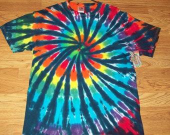 S M L Xl 2x 3x 4x 5x 6x Tie Dye Shirt, Kids, Adult, Plus size tie dye, Rainbow Tiger Spiral