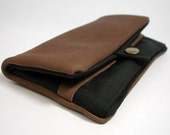 "Wallet, Tobacco pouch,  Mobile Phone pouch ""toffee leather"""