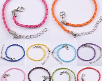CLEARANCE 5 Braided European Braided Bracelets for Large Hole Beads pick color
