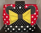 Minnie Mouse Large Diaper Bag  Red polka dots