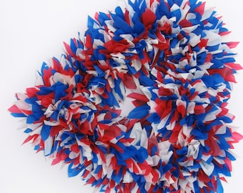 Red White and Blue Wreath - Fourth of July Wreath - July 4th Wreath - Patriotic Wreath - Outdoor Wreath - Summer Wreath - July 4 Wreath