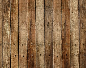 7ft x 6ft Vinyl Photography Backdrop /  Western Wood / Custom Photo Prop