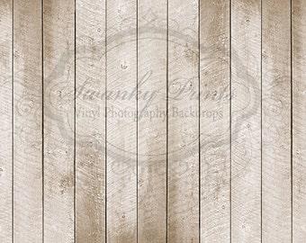 10ft x 8ft Vinyl Photography Backdrop - Light Scuffed Wood / Custom Photo Prop