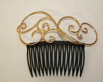 Brass Steampunk Hair Comb