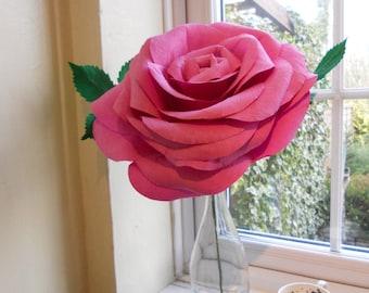 Giant paper rose alternative bouquet bridesmaid bouquet