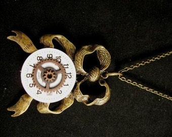 steampunk necklace Ribbons