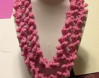 Spiral/Handmade Crochet Necklace