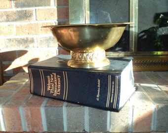 Vintage Solid Brass Bowl, A Hand Forged Brass Bowl Made  for the Colonial Virginia Company in Hampton, Virginia in very good condition