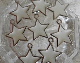White Silver Star Pendants