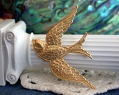 Bird Charms, Brass Bird Stampings, Scrapbooking, Jewelry Supplies, Craft Supplies, Made in the USA  STA-017