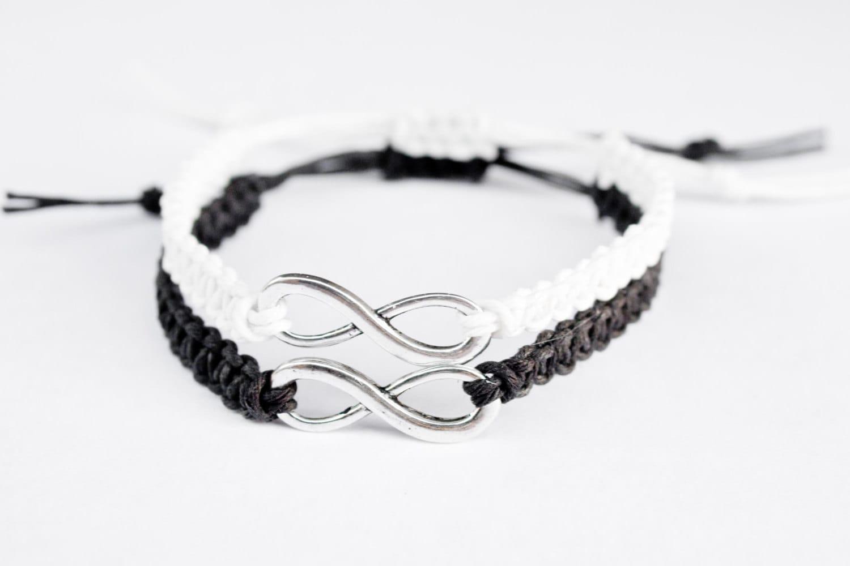 bracelet infini couple