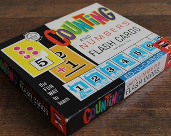 Vintage Children's Counting Flash Cards Game (Ed-u-cards 1963)