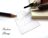Custom Rubber Stamp - Handmade. Size Small. 1 by 1