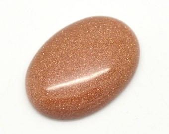 3 Cabochons 18x13mm - Gold Sand Stone - Oval - Ships IMMEDIATELY from California - C69