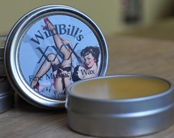 Wild Bill's XXX Brand Stiff Mustache Wax 1 oz tin