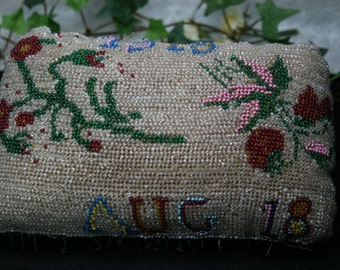 Vintage /Antique Beaded Pin Cushion - Circa 1919
