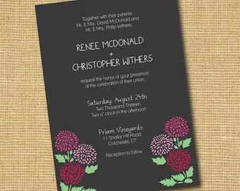 Rustic Floral: DIY Printable Wedding Invitation