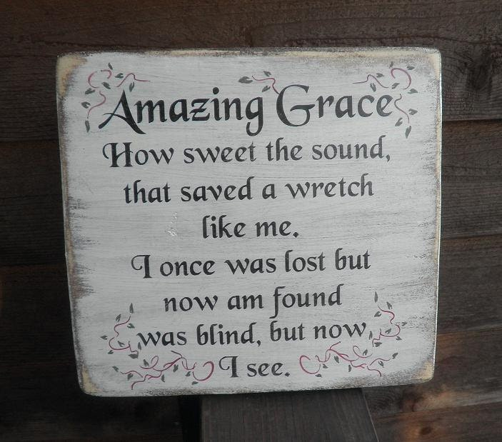 Signs You Re Amazing: Amazing Grace Wood Sign Wood Sign Hand Painted And
