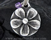 Gifts for Pets Dog Tags for Dogs Pet ID Tag Custom Hand Stamped Flower with Crystal Jewel