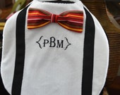 Minky Bowtie Bib with Monogram Addition