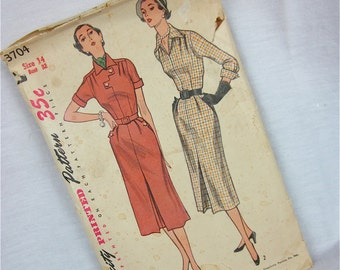 Vintage 40s 50s Sewing Pattern, Simplicity, 3704