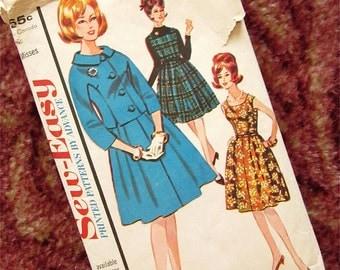 Vintage 60s Dress, Skirt, or Jacket Sewing Pattern, Advance, 3276