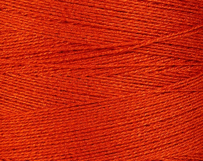 0.5mm Orange bamboo cord - twisted thread - Bamboo Cord - Macrame Cord - Bamboo thread (870) - Flat rate shipping