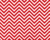 Chevron Fabric, Red and White Fabric, Robert Kaufman, 01324