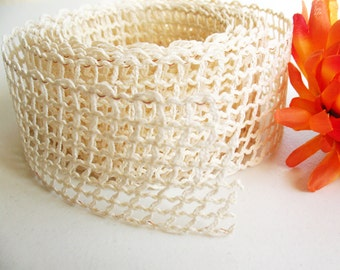 1/2yd Natural Mesh Jute Ribbon
