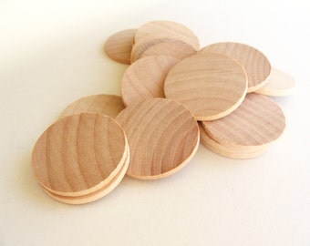 50 Unfinished Wooden Circles 1.50""