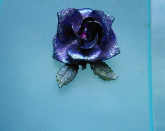Rose Brooch - OOAK