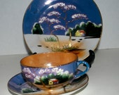 Vintage China trio Takitio china 3 piece set cup saucer and dessert plate vintage china #Chinatrio