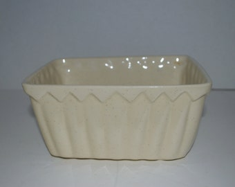 Cookson pottery vintage creme speckled planter made in USA