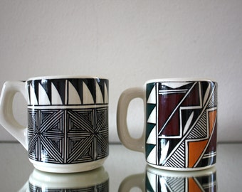 Handmade Native American Mugs with Artisan detailing