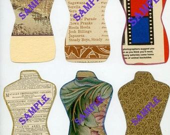 Digital Download-Paper Torsos Collage for Artwork usage-Cut and Decorate