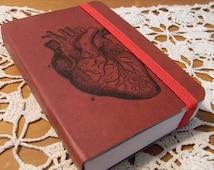 Anatomical Heart Pocket Journal Sketch Book Pad