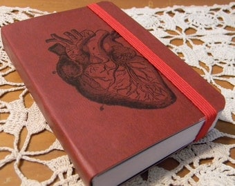 Anatomical Heart Pocket Journal Sketch Book Pad