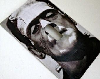 Single Toggle Light Switch Plate Cover--Boris Karloff Classic Frankenstein--Halloween