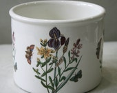Vintage Portmeirion Botanic Iris and Lily 5 inch plant pot . 1972