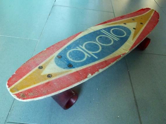 70s Dogtown Vintage Apollo Skateboard Fiberglass Red