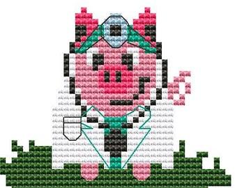 Modern Cross Stitch Kit 'Doctor Pig' Cross Stitch Kit