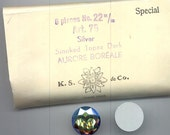 Two dazzling and rare vintage Swarovski crystal stones - art. 75 - 22 mm - smoked topaz dark AB