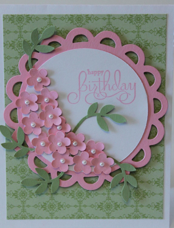 happy birthday flower bouquet card stampin up handmade