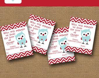 owl valentine card boy valentine diy printable christian school valentines party kids