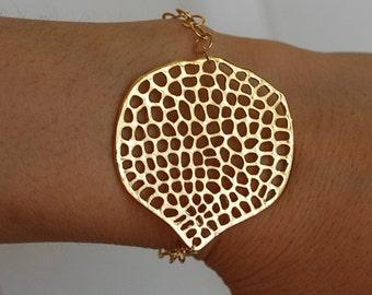 Large Honeycomb Circle Bracelet