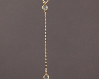 Gold Rosary Swarovski Crystal Necklace also in Silver and Rose Gold